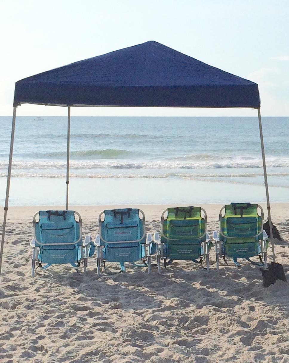 Beach Family 4 Pack & 10u0027 x 10u0027 Canopy - Wrightsville Beach Chair Umbrella u0026 Cabana ...