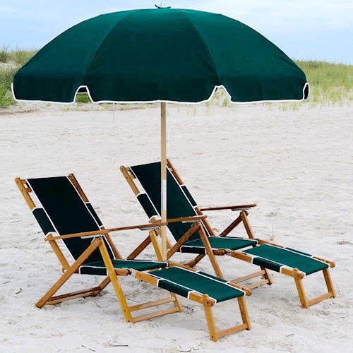 beach chair with umbrella Resort Style Chair & Umbrella Set   Wrightsville Beach Chair  beach chair with umbrella